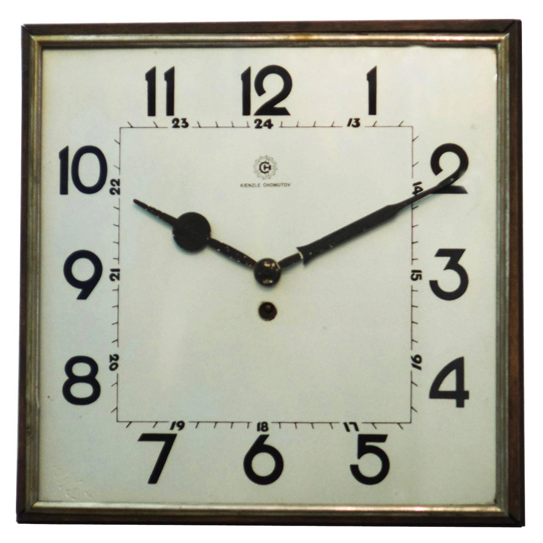 German Kienzle Art Deco Ceramic Wall Clock 1930s at 1stdibs
