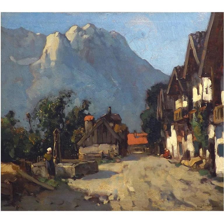'Garmisch, Germany' Painting by Henk van Leeuwen