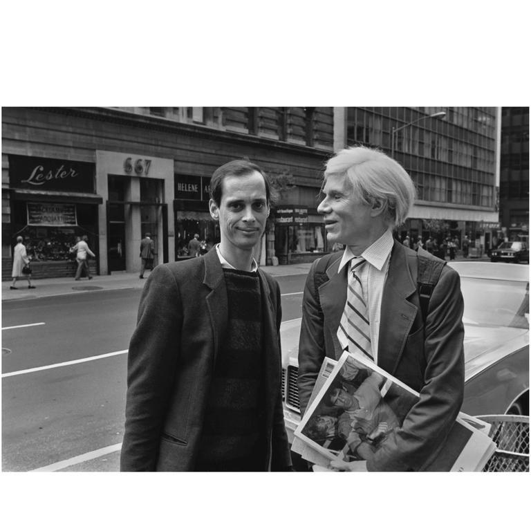 "Robert Levin, ""Andy Warhol & John Waters on Madison Ave, 1981"" Print, USA, 2015"