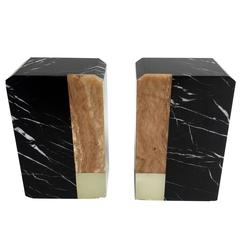 Pair of Vintage Marble Bookends, 1970s