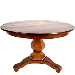 French 19th Century Mahogany Empire Round Center Table