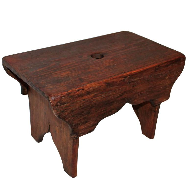 19th Century Natural Surface Country Stool For Sale At 1stdibs