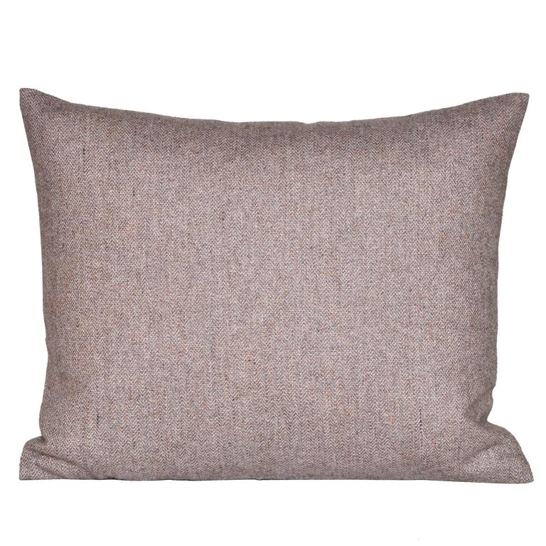 Small Vintage Heather Donegal Tweed Irish Wool with Irish Linen Cushion Pillow For Sale