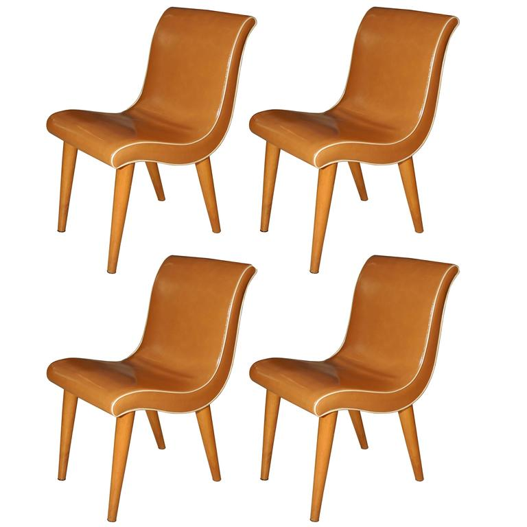 russell wright set of 4 dining chairs 4 org