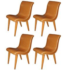 Set Of Four Russell Wright Dining Chairs