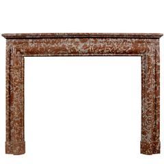 Large 19th Century English Rouge Royale Fireplace Mantel