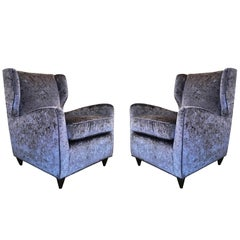 Pair of Mid-Century Italian Club Chairs