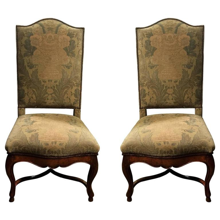 Pair of 18th 19th century french louis xv walnut side chairs for sale at 1stdibs - Louis th chairs ...