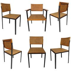 Six George Nelson Steel Frame Chairs