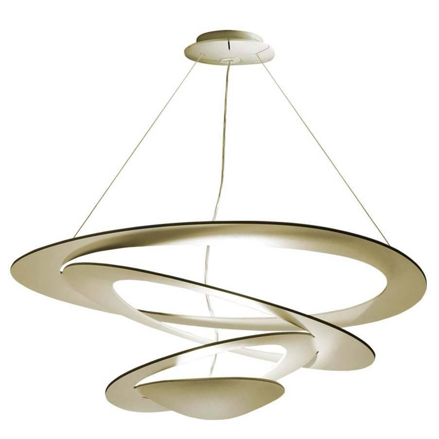 gold pirce suspension pendant light by g m scutella for artemide italy modern for sale at 1stdibs. Black Bedroom Furniture Sets. Home Design Ideas