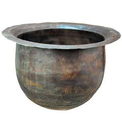 """French 19th Century Large Copper """"Teinturie"""" Pot"""