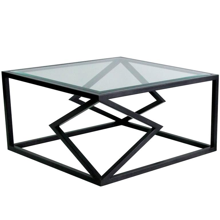 """Contemporary Steel """"Two Diamonds"""" Cocktail Table by Alex Drew & No One, 2016 For Sale"""