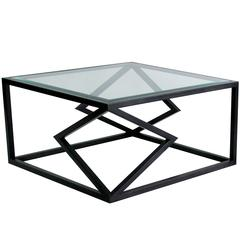 "Contemporary Steel ""Two Diamonds"" Cocktail Table by Alex Drew & No One, 2016"
