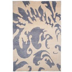 Contemporary 'Jasper' Silk Rug
