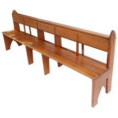 Amsterdam School Style Art Deco oak Benches No 2