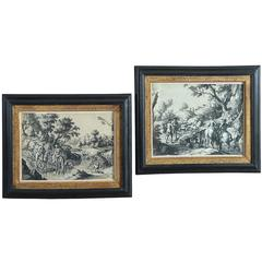 Two 18th Century Pen and Ink Landscape Drawings