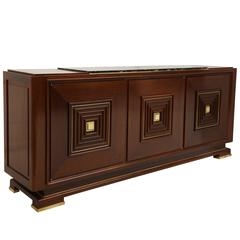 Deco French Buffet Sideboard with Bronze Detailing