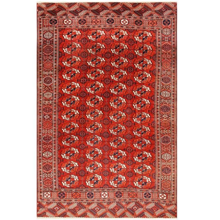 Antique Turkoman Rug: Antique Caucasian Turkoman Bokara Rug For Sale At 1stdibs