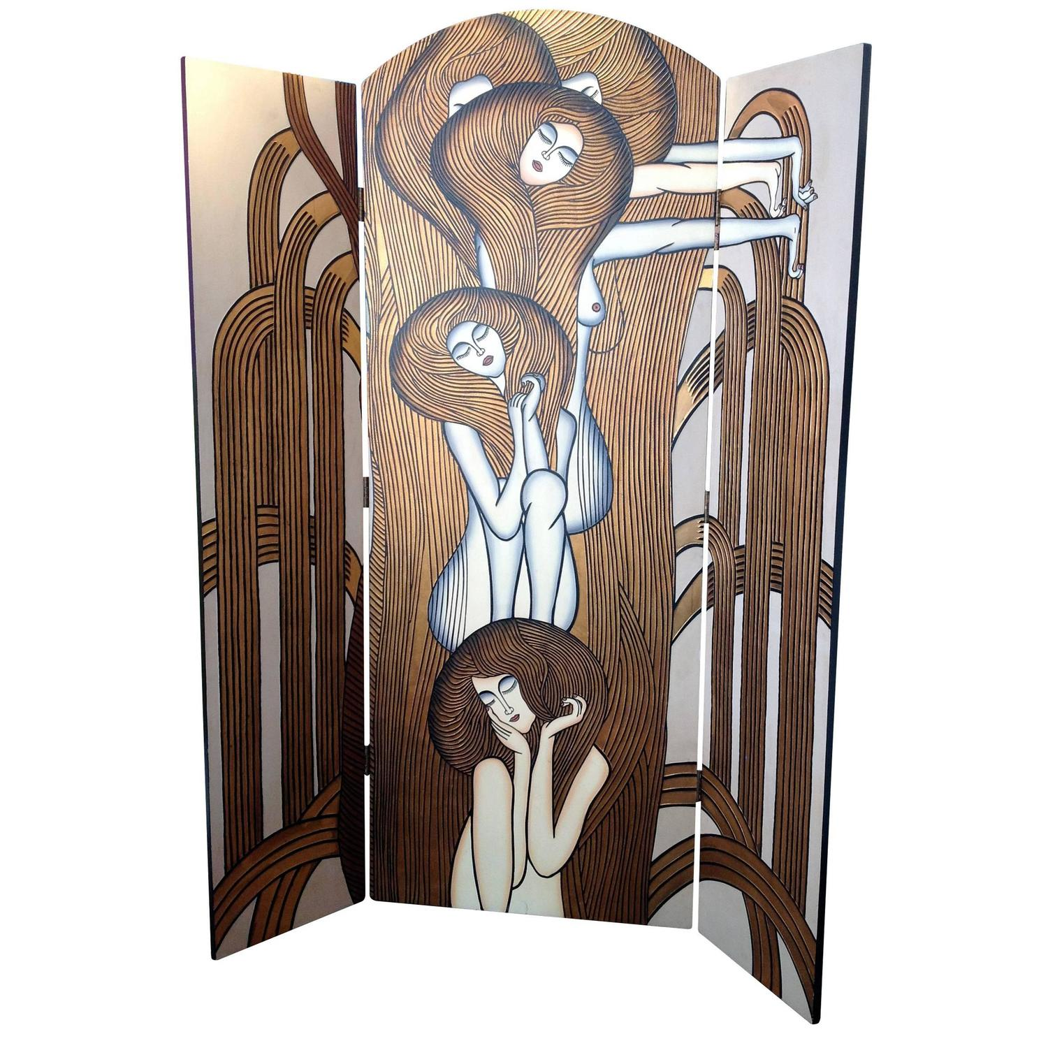Double sided folding screen by fournier decoration paris for Fournier decoration