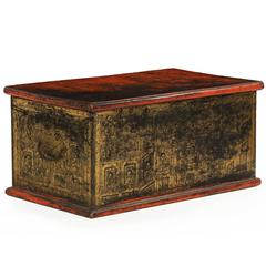 19th Century Chinese Gilt Decorated Antique Blanket Chest