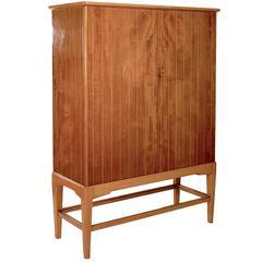 Teak and Birch Veneered Two-Door Cabinet