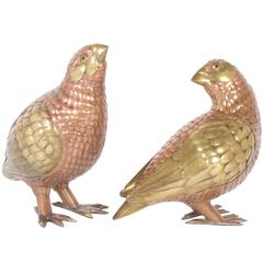 Pair of Mid-Century Bustamante Quails