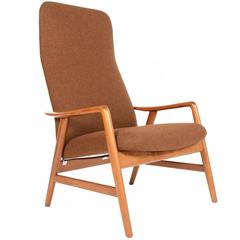 Alf Svensson Kontur Highback Lounge Chair in Teak