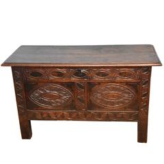 Good Charles II Small Oak Coffer