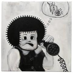 "Junior Martin ""Telemarketers"" Pop Art Cartoon Painting"