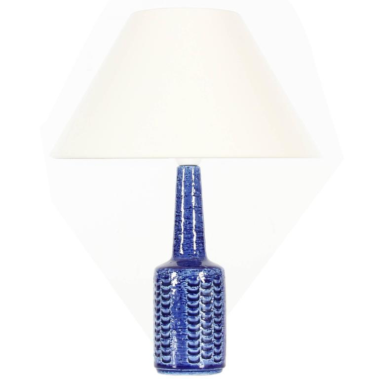 Mid-Century Modern Ceramic Table Lamp by Per Linnemann-Schmidt for Palshus