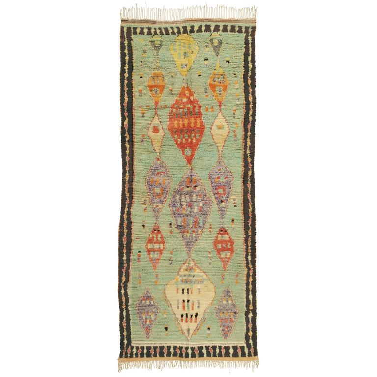 Mid-20th Century Moroccan 'Boujad' Carpet