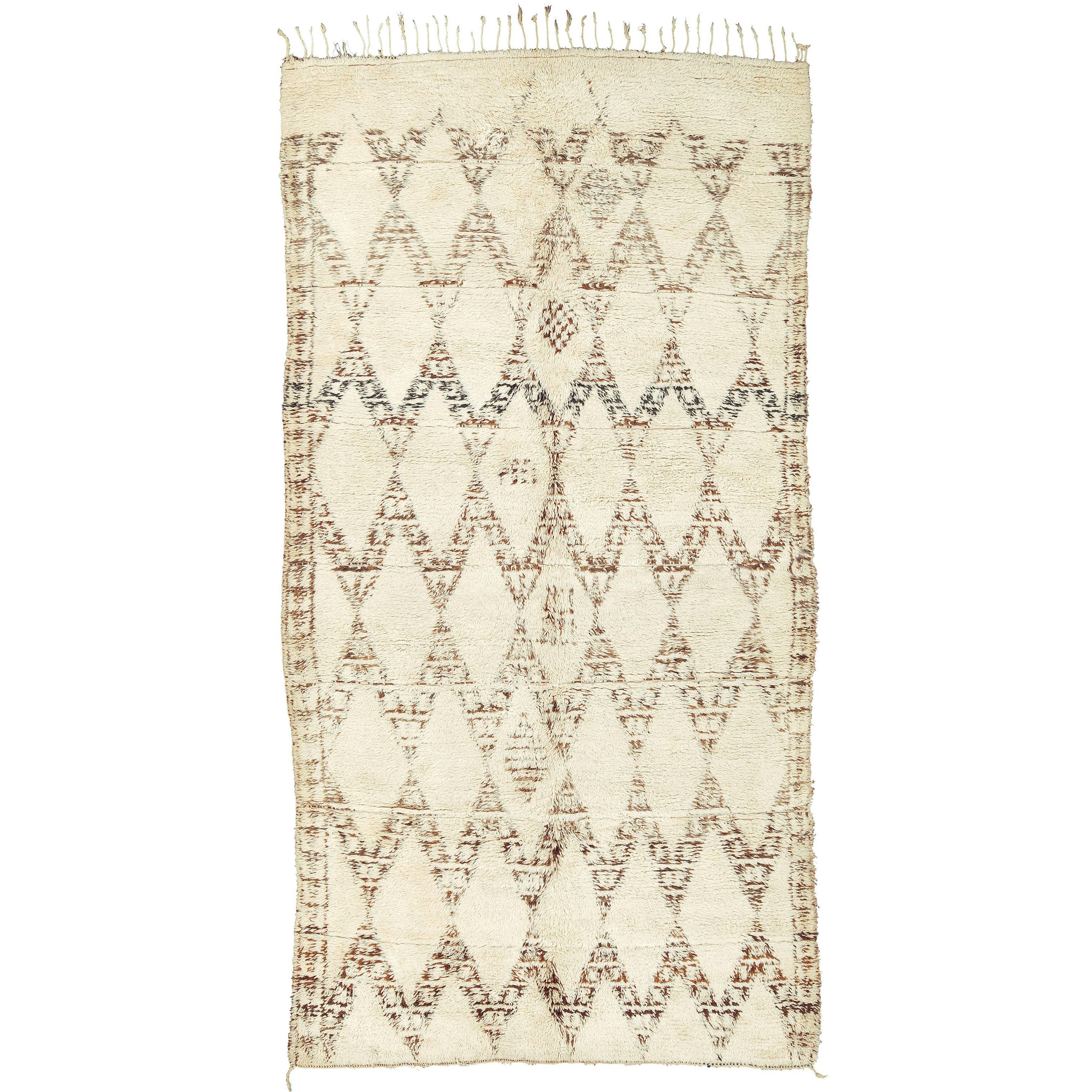 Mid-20th Century Moroccan 'Beni Ouarain' Carpet
