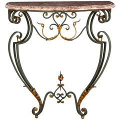 French Louis XV Style Console Table, Early 1900s