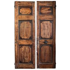Pair of French Walnut Doors
