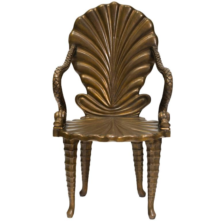 carved wood italian fantasy dolphin chair for sale at 1stdibs. Black Bedroom Furniture Sets. Home Design Ideas