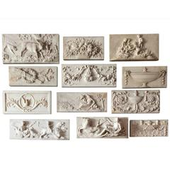 Antique Marble Fireplace Centre Tablets