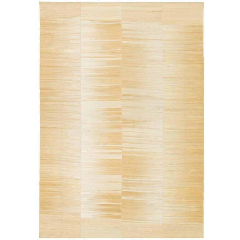 Mid-20th Century Vintage Kilim Composition Carpet