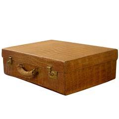 Drew & Co Crocodile Suitcase