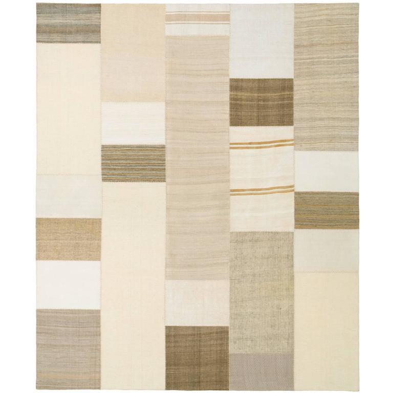 Mid-20th Century Vintage Kilim Composition Carpet For Sale