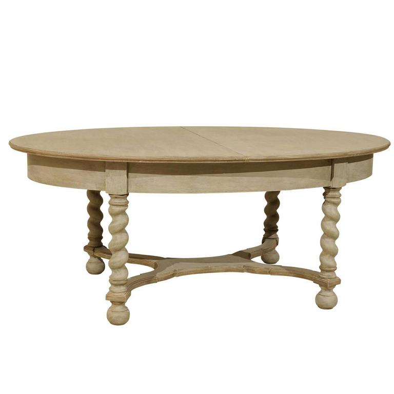 Swedish Baroque Style Oval Table from the Mid-20th Century
