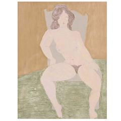 """March Avery, """"Seated Nude"""""""