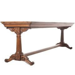 French Early 19th Century Oak Trestle Table