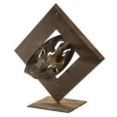 Dominique Maltier, Iron Heart Sculpture
