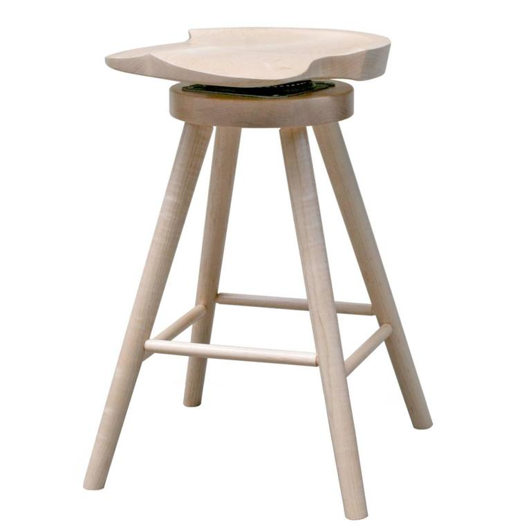 Shimna Armstrong Swivel Stool in Maple Hardwood