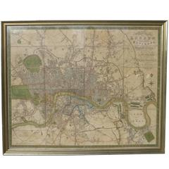 """1826 """"A New Map of London and Its Environs"""""""