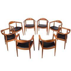 Set of Eight Hans Wegner Classic Chairs