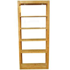 Burl Wood Étagère Shelving Unit Lighted Bookcase Manner of Milo Baughman