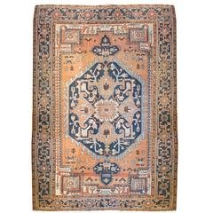 Incredible 19th Century Heriz Rug