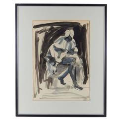 Jacob Kainen, Gouache and Ink on Paper, Signed