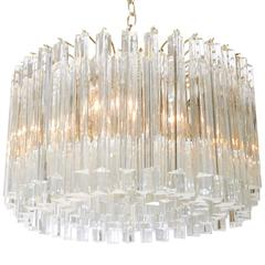 Venini Glass Prism Chandelier by Camer